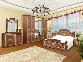 """Модульна спальня """"Жасмін"""" від Світ меблів (піно горіх / піно горіх лак)."""