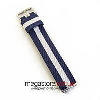 Для часов ремешок тканевый универсальный на 18, 20, 22мм (07004), фото 1