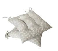 Подушка на стул серый горох 40*40 см