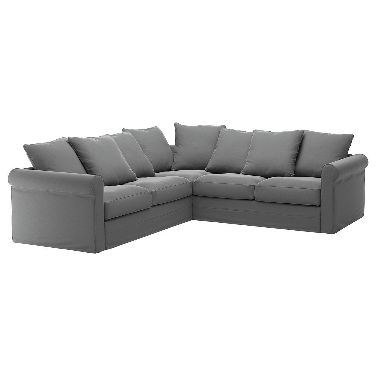 IKEA GRONLID (192.560.05) Четырехместный угловой диван, Inseros светло-голубой