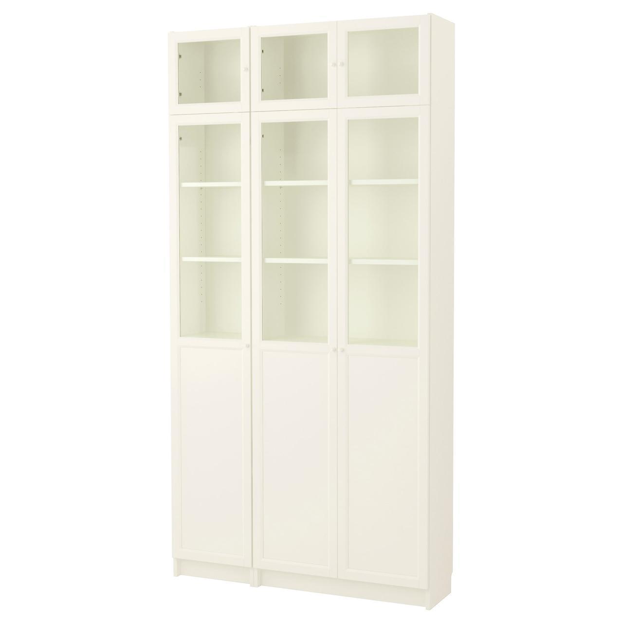 IKEA BILLY / OXBERG (592.177.24) Шкаф/Сервант, черно-белый