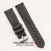 Силиконовый ремешок для часов универсальный black white 20 мм, 22 мм, 24 мм (07057)
