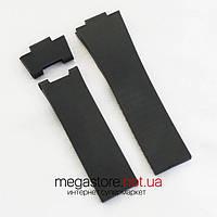 Каучуковый ремешок для часов Ulysse Nardin maxi marine black (07059)