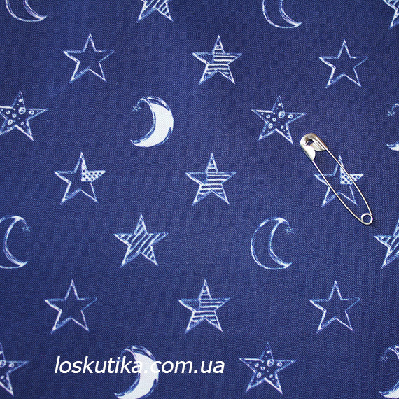 45022 Ночь. детские ткани. Натуральный хлопок. Подойдет для шитья и декора.
