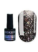 Гель лак Oxxi Star Gel №012 (серебристо-черный , с блестками и слюдой) 10 мл
