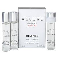 Туалетная вода Chanel Allure Homme Sport 3 x  20 mlнаполнитель