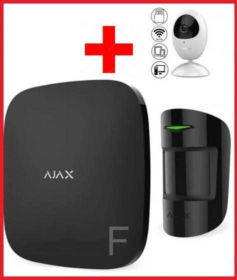 Комплект беспроводной сигнализации  для офиса + камера  Ajax  (Black)