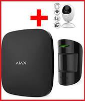 Комплект беспроводной сигнализации  для офиса + камера  Ajax  (Black), фото 1