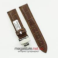 Кожаный универсальный ремешок Rate для часов с застежкой 22 мм коричневый (07095)