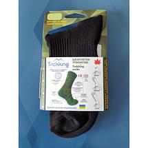 """Трекинговые носки демисезонные ТМ """"Trekking"""" Short (короткие) чёрные , фото 3"""