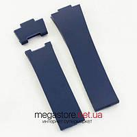 Каучуковый ремешок для часов Ulysse Nardin maxi marine blue (07140)