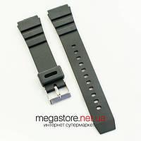 Каучуковый для часов ремешок Casio black 20 мм (07167), фото 1