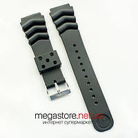 Каучуковый для часов ремешок Casio black 22 мм (07168), фото 1