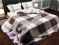 Євро размер постельного белья с геометрией в коричневом цвете