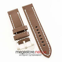 Универсальный кожаный ремешок для часов dark brown 20мм, 22мм, 24мм (07313), фото 1