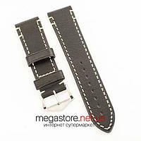 Универсальный кожаный ремешок для часов black 20мм, 22мм, 24мм (07319), фото 1