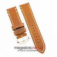 Универсальный кожаный ремешок для часов brown 20мм, 22мм, 24мм (07320), фото 1