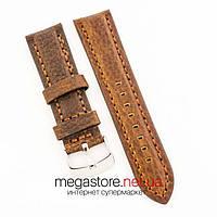 Универсальный кожаный ремешок для часов brown 20мм, 22мм, 24мм (07321)