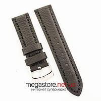 Универсальный кожаный ремешок для часов black 20мм, 22мм, 24мм (07322), фото 1