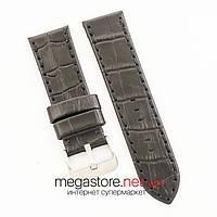 Универсальный кожаный ремешок для часов black 20мм, 22мм, 24мм (07324), фото 1