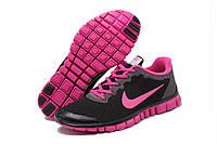 Кроссовки женские Nike Free Run 3.0, Чёрный\Розовый