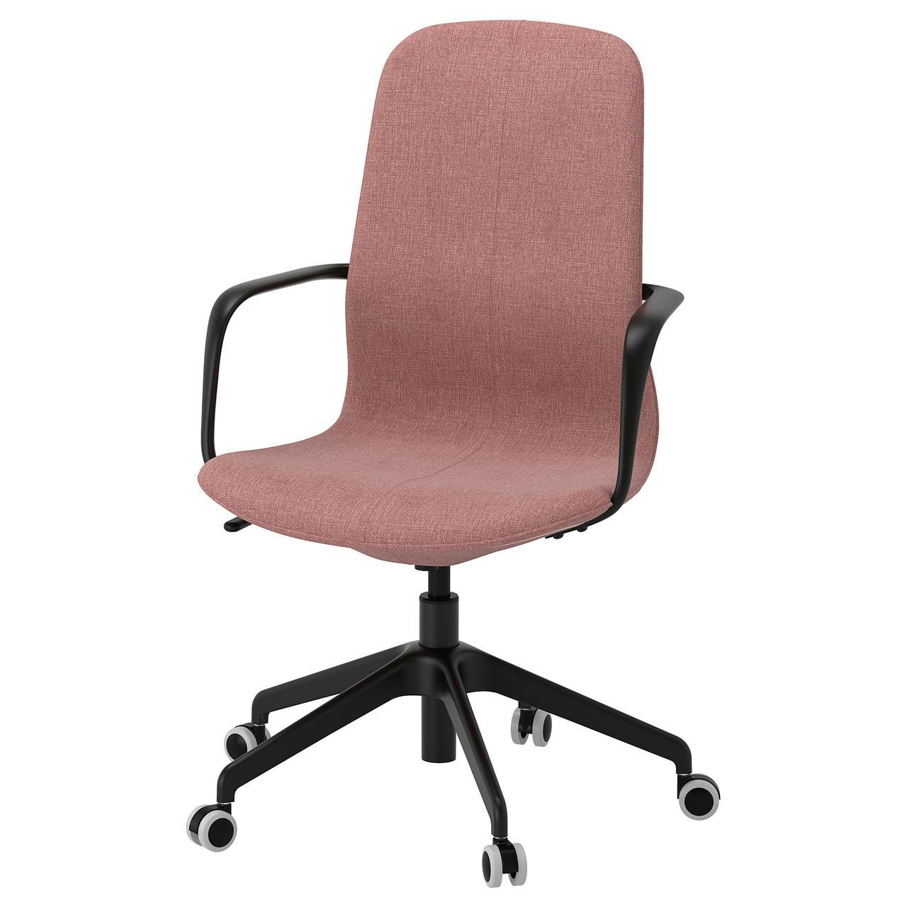 IKEA LANGFJALL (392.618.74) Рабочий стул, Gunnared светло-розовый, белый