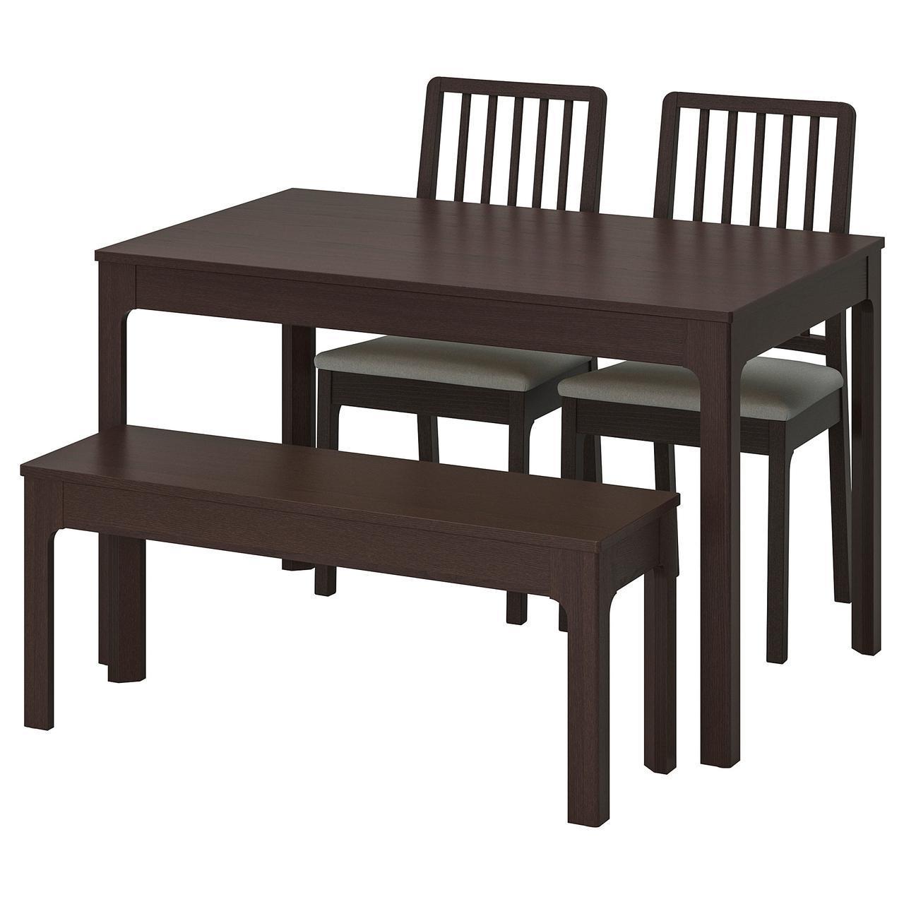 IKEA EKEDALEN / EKEDALEN (792.213.10) Стол с 2 стульями и лавой, темно-синий