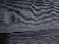 Ткань шифон плательный гофрированный(черный)