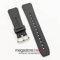 Каучуковый для часов ремешок Casio black 24 мм (07373), фото 1