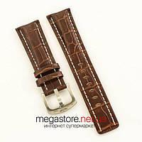 Для часов кожаный ремешок с застежкой Breitling brown 24мм (07497), фото 1