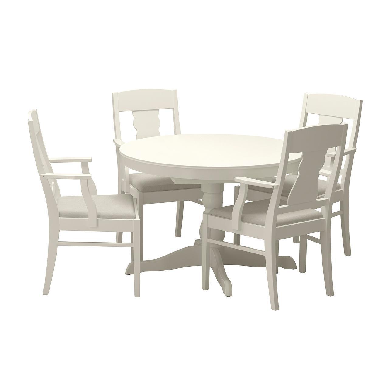 IKEA INGATORP / INGATORP (892.522.02) Стол и 4 стула