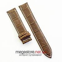 Кожаный ремешок для часов Patek Philippe brown white 20 мм, 22 мм, 24 мм (07516), фото 1