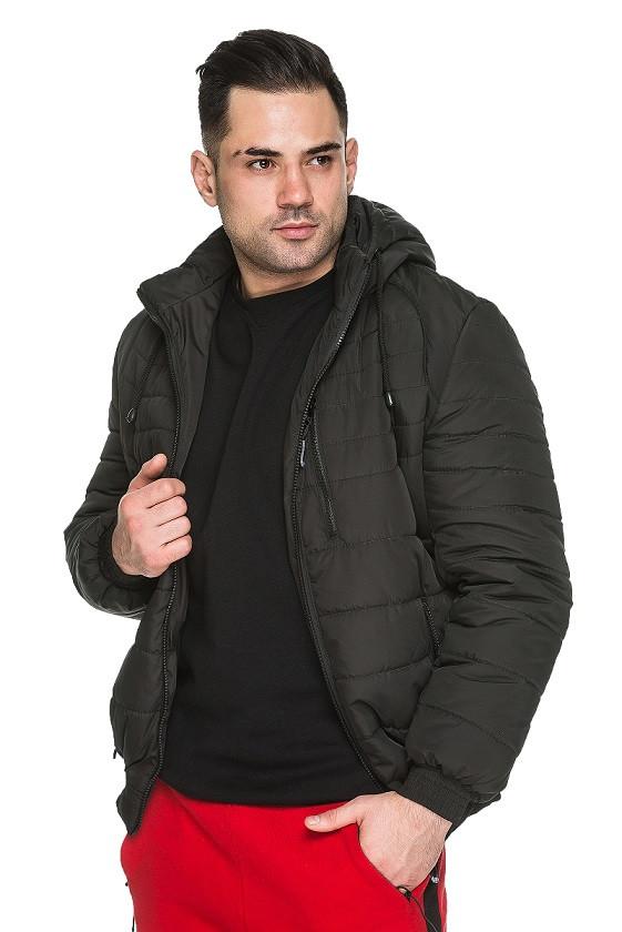 Красивая мужская демисезонная куртка Ник черный (48-56)