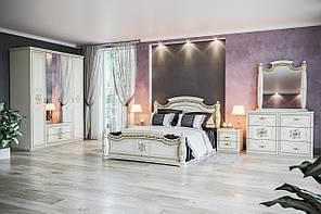 """Модульна спальня """"Жасмін"""" від Світ меблів (білий/ білий лак)."""