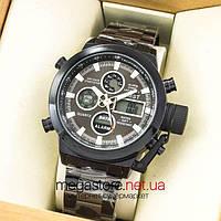 Мужские армейские наручные часы Amst black black am3003 на браслете (07482)