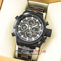 Мужские армейские наручные часы Amst black black am3003 на браслете (07482), фото 1