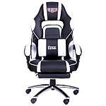 Кресло VR Racer Edge Omega черный/белый, Бесплатная доставка, фото 2