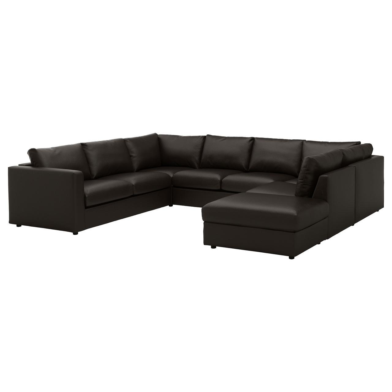 IKEA VIMLE (092.115.74) U-образный, 6-местный диван с открытым концом, Farsta темно-синий