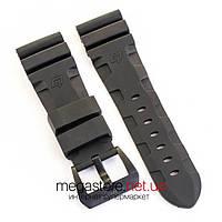 Для часов каучуковый ремешок Panerai black black 26 мм (07629), фото 1