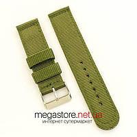 Тканевый ремешок для часов Amst green 22мм (07638), фото 1