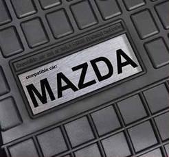 Гумові килимки лого Mercedes W202 W203 W204 ін., фото 2