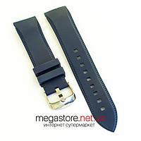 Ремешок для часов каучуковый 22 мм с застежкой синий (07647), фото 1