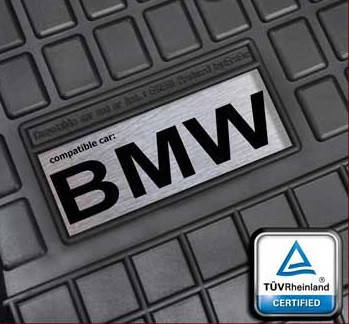 Гумові килимки з логотипом BMW E60 E53 E70 E39 та ін., фото 2
