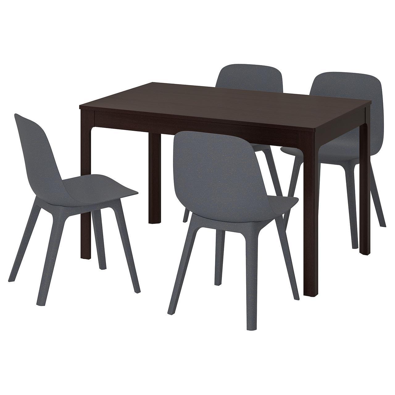 IKEA EKEDALEN / ODGER (692.212.97) Стол и 4 стула, синий, синий