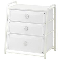 IKEA LOTE (502.937.22) Комод, 3 ящика, белый