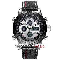 Мужские армейские часы AMST AM3022 черный со стальным циферблатом (20047)