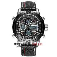 Мужские армейские часы AMST AM3022 черно-стальной (20048)
