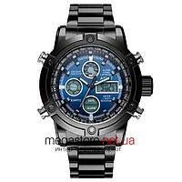 Мужские армейские часы AMST AM3022 черный на браслете (20055)
