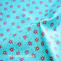35030 Пятилистник. Ткань с мелким рисунком. Декоративные ткани для ручной работы и для пэчворка
