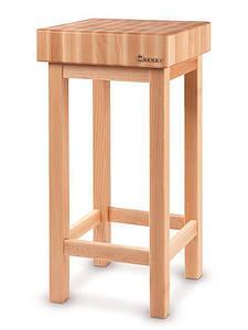 Блок разделочный деревянный на деревянной подставке 400x400x100H мм Hendi 505618